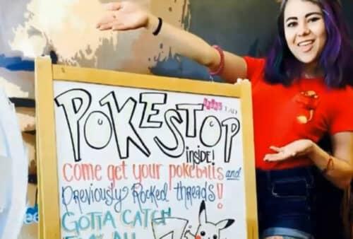 Ловушка покемонов в кафе