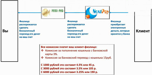 Схема работы NextPay
