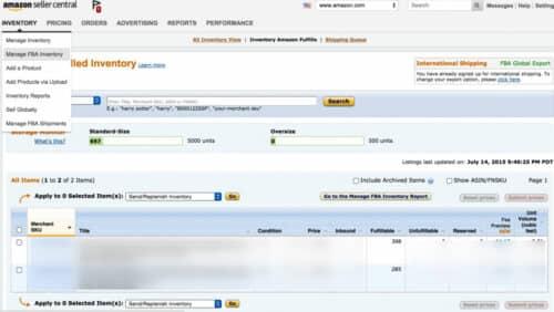 Создание доставки на Amazon