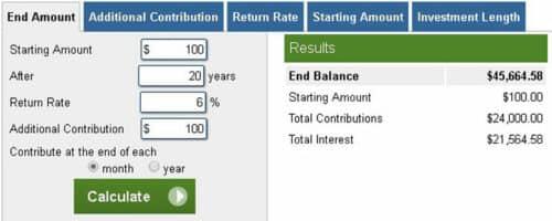 Калькулятор инвестиций