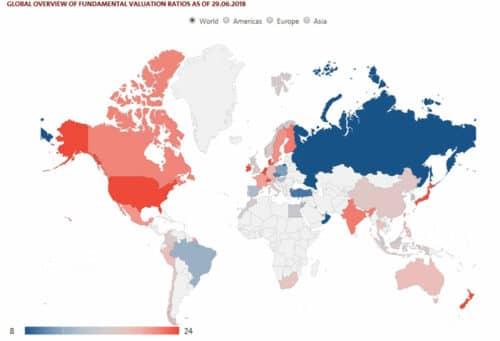Коэффициент CAPE по странам